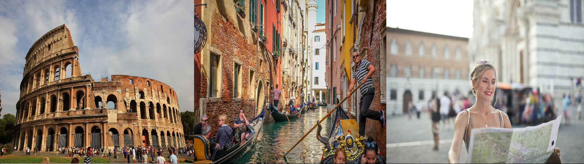 Images of tourism in Italy