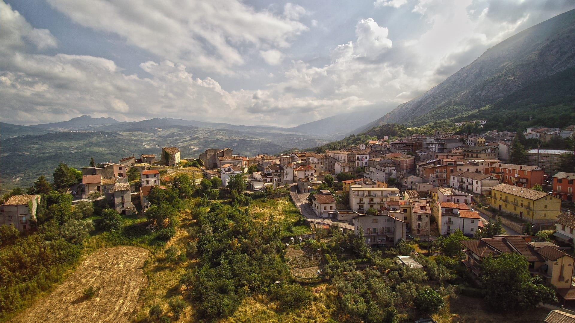 Abruzzo city top view image