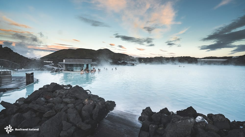 visiting Blue Lagoon after sightseeing at Fagradalsfjall volcano eruption site