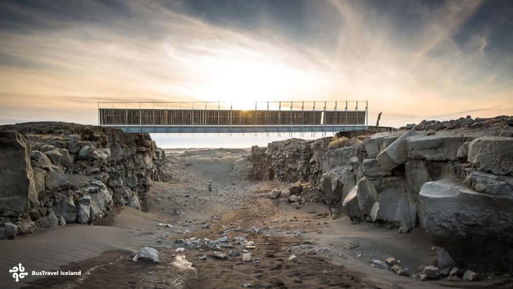 Bridge between Two Continents at Mid-Atlantic Ridge Reykjanes Iceland
