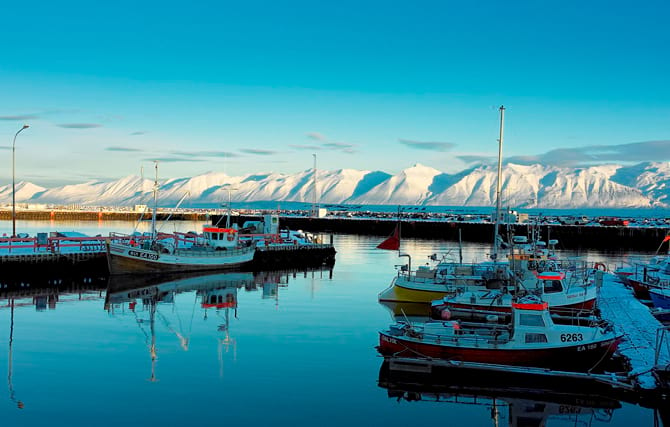 Dalvík is a fish town in the north worth to visit
