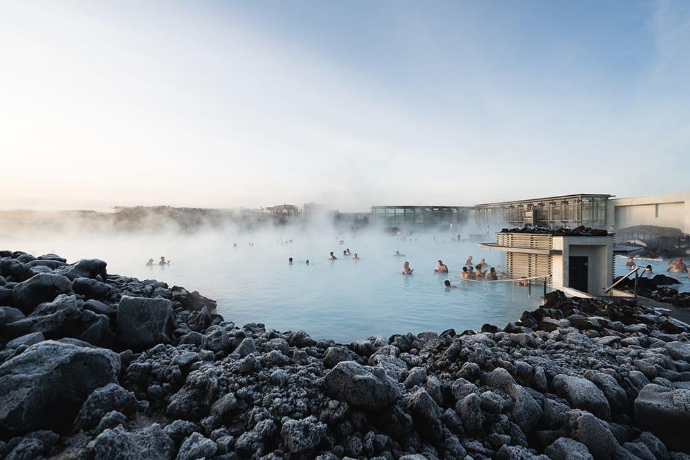 Dip in the Blue Lagoon geothermal spa