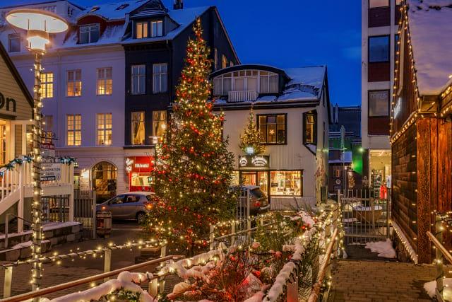 Christmas spirit in downtown Reykjavík