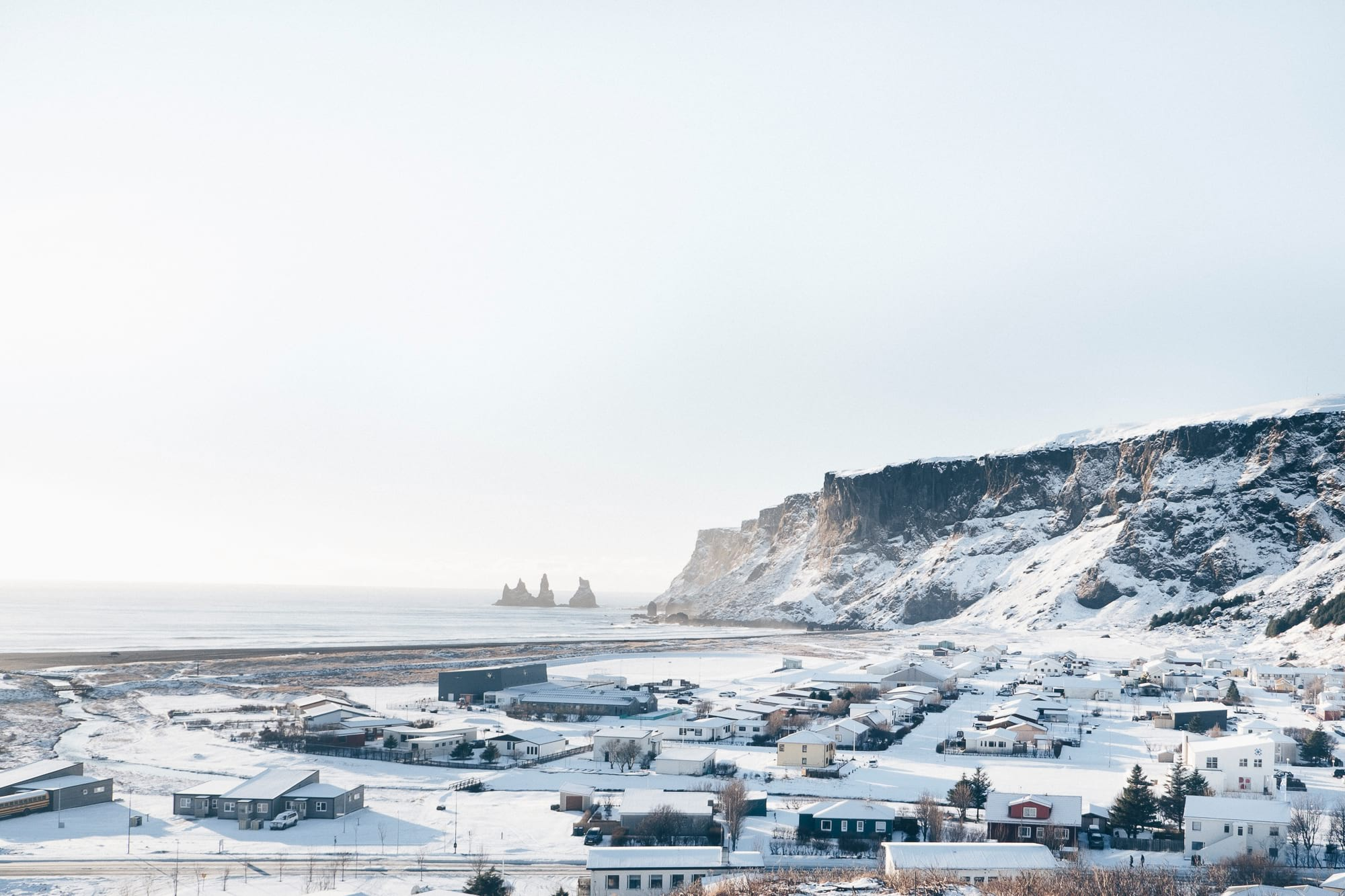 Vík viewed from hillside