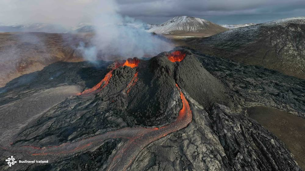 Fagradalsfjall volcano opened up multiple fissure