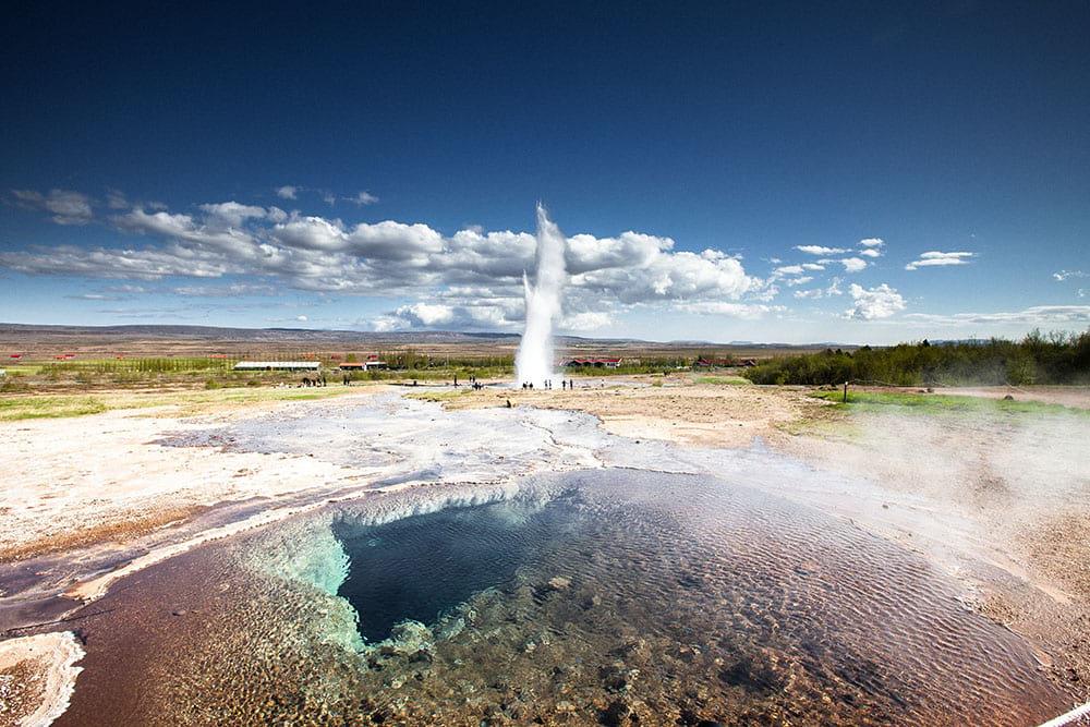 Geysir Geothermal Area in Golden Circle Iceland