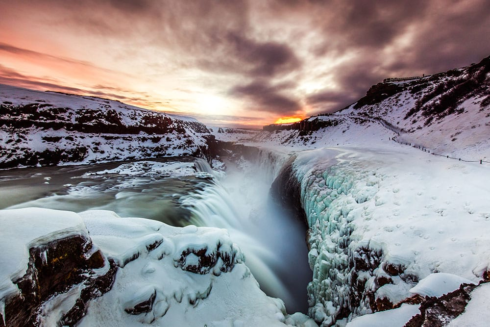 Gullfoss waterfall in the Golden Circle Iceland