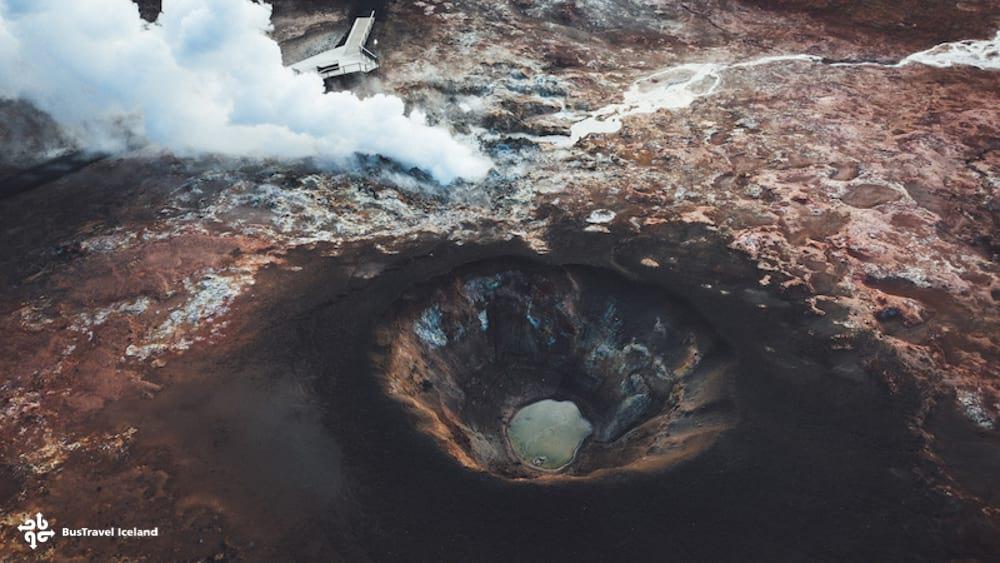 Gunnuhver hot springs in Reykjanes Peninsula Iceland