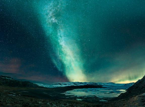 Northern Lights above Hofellsjökull
