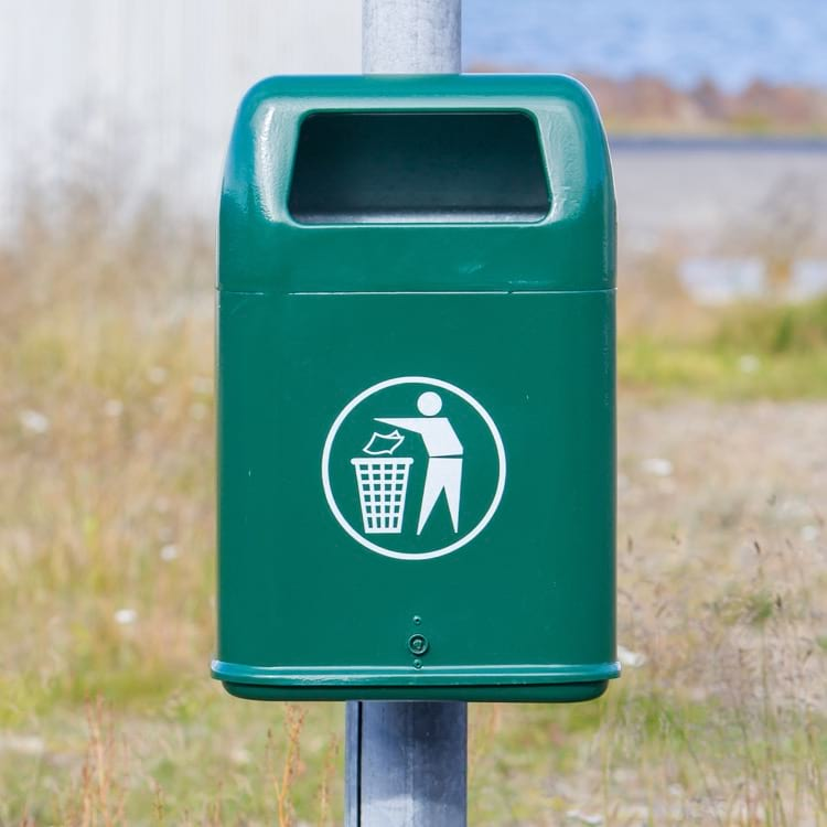 Dispose the trash while you are in Iceland