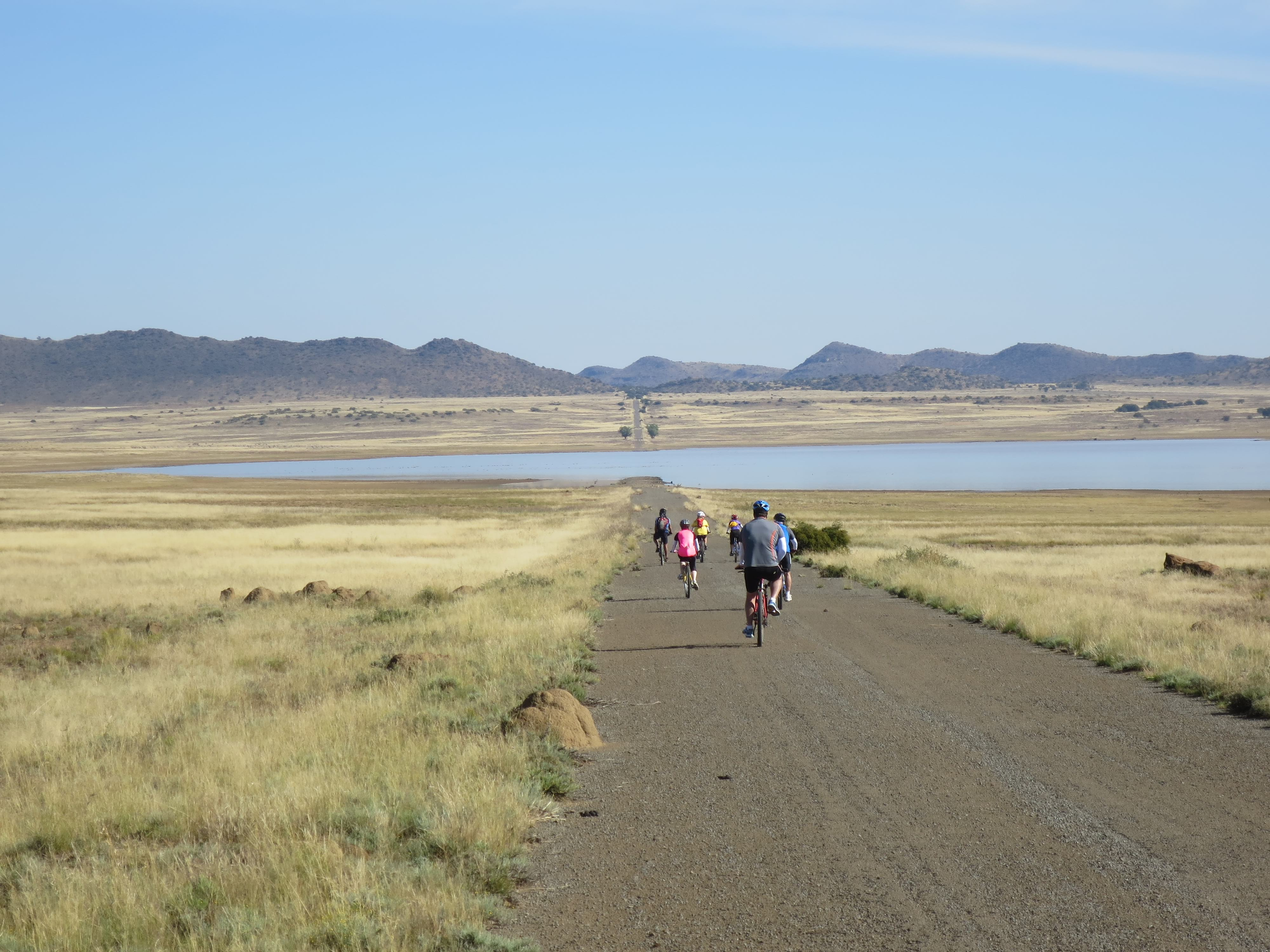 The team in the open spaces of the Karoo