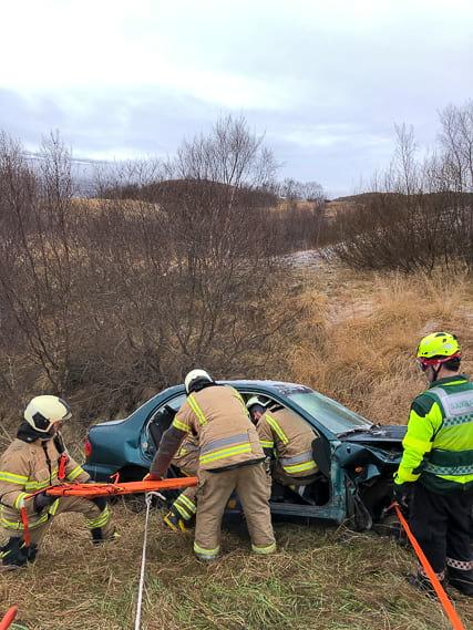 Slokkvilið Akureyrar are EMTs together with firefighters