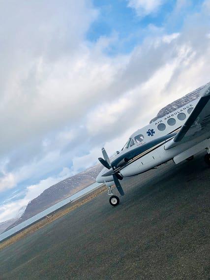 Slokkvið Akureyrar is also the air ambulance available 24/7