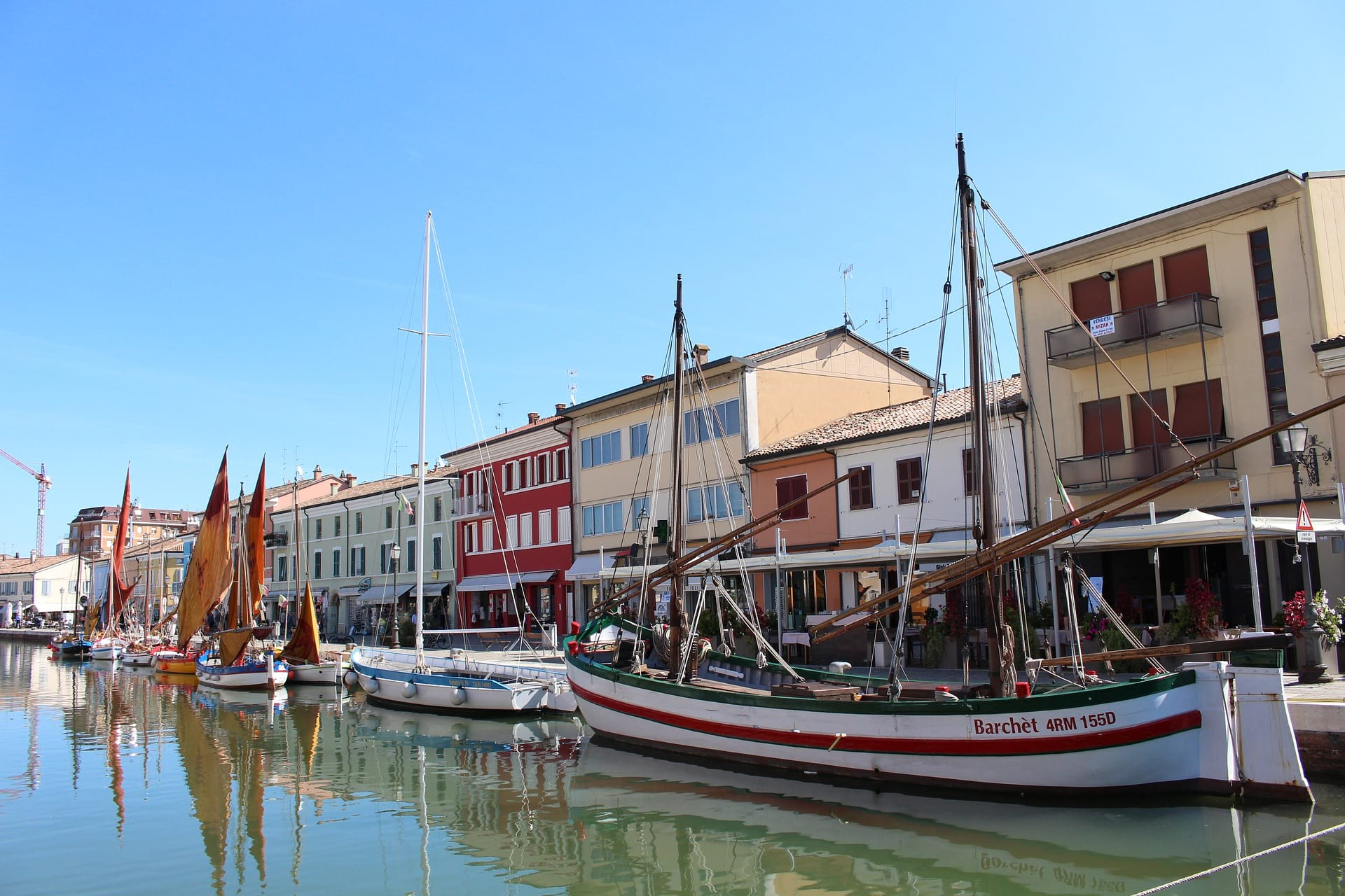 EMILIA ROMAGNA town and boats image