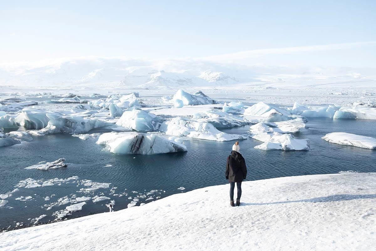 Jokulsarlon breathtaking view in winter