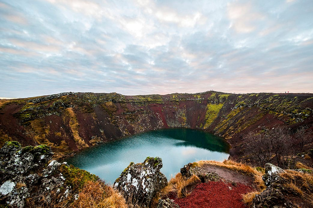 Kerid Volcanic Crater Lake in Golden Circle Iceland