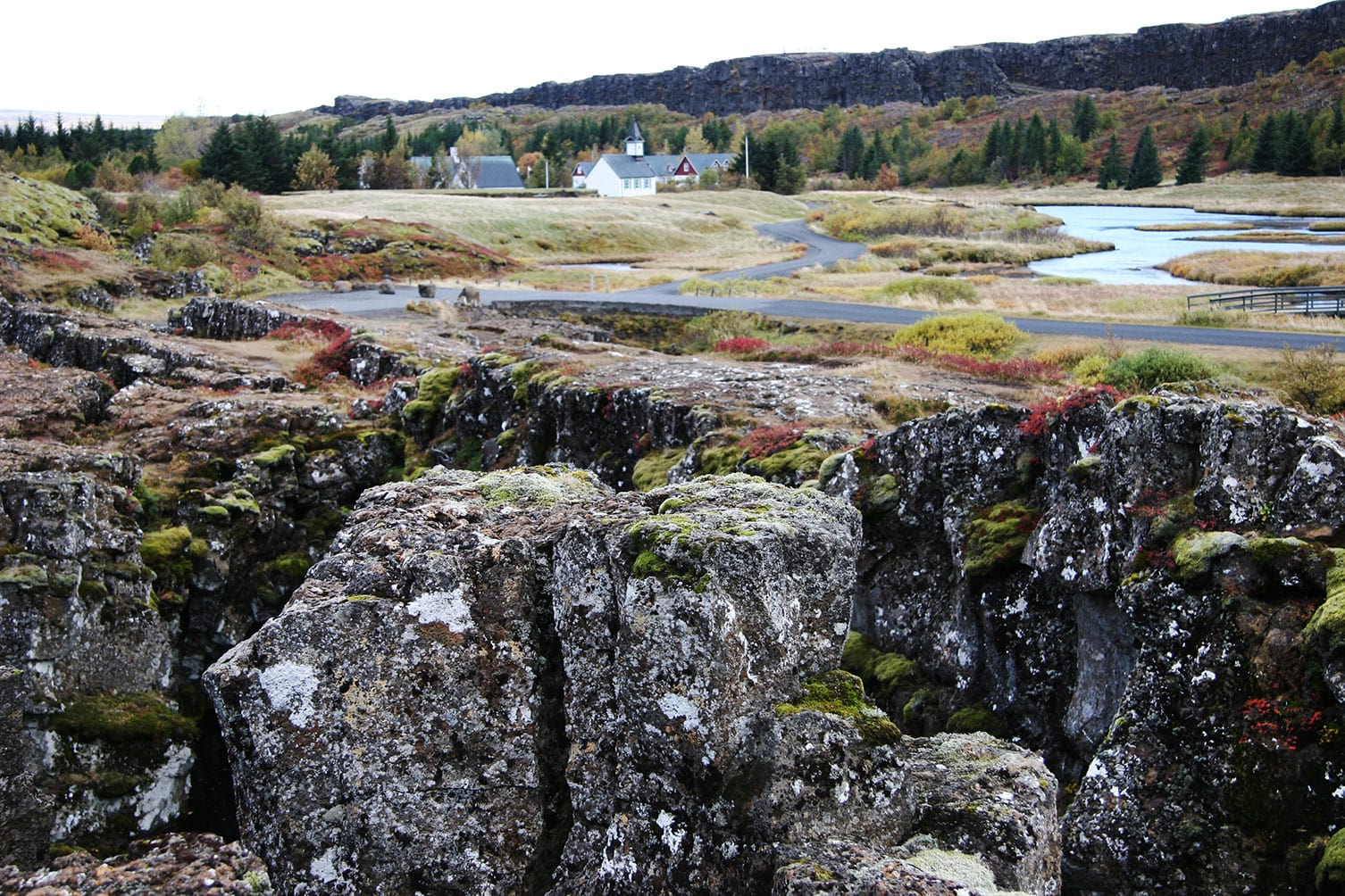 Thingvellir National Park is one of attraction during the Golden Circle tour