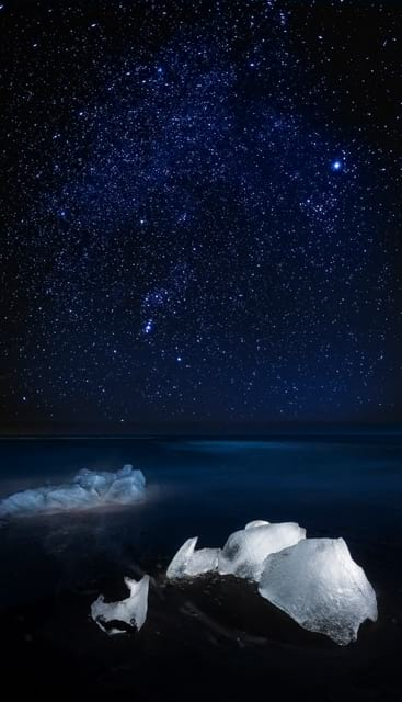 The sky full of stars above Iceland