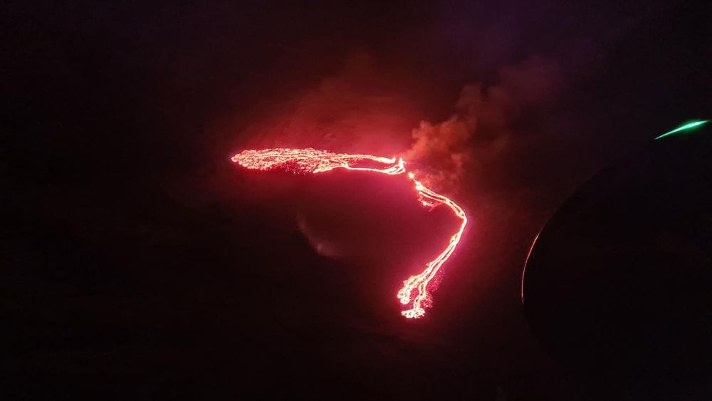 March 19 Fagradalsfjall volcano eruption started
