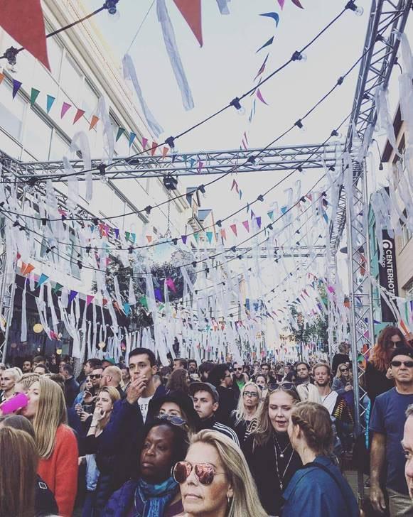 Street festival in Reykjavik downtown streets