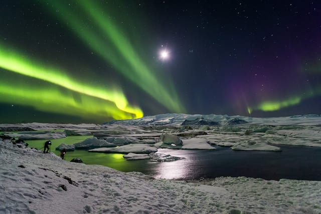 Northern Lights in Iceland is the best attraction during the long Icelandic nights