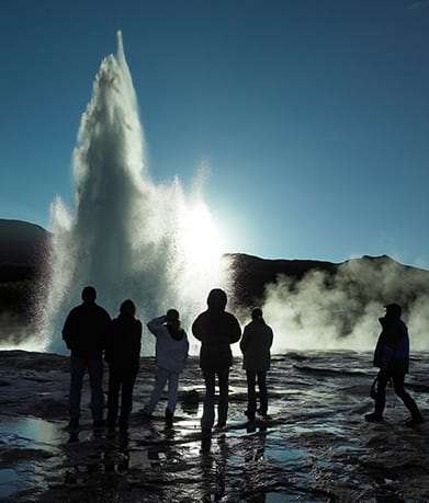 Geysir Geothermal area during the Golden Circle tour