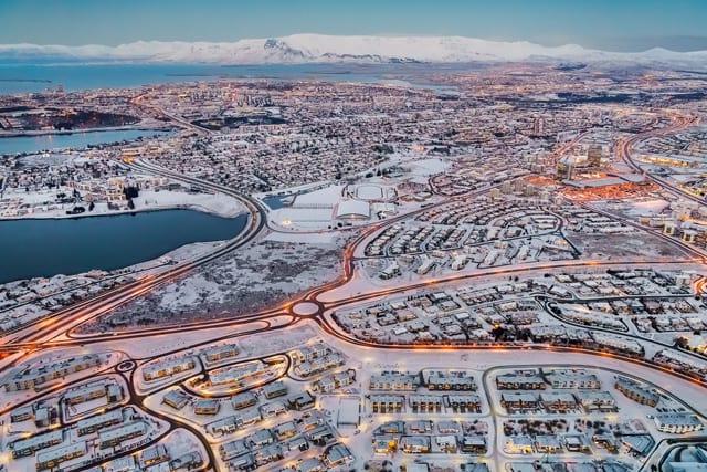 Reykjavík city from above