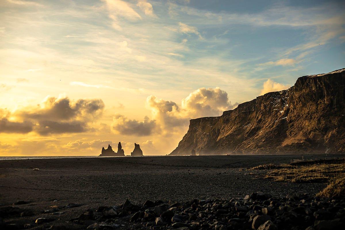 Reynisdrangar Sea Stacks seen from Vik town