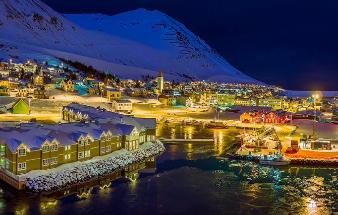 Beautiful Siglufjörður during the winter time