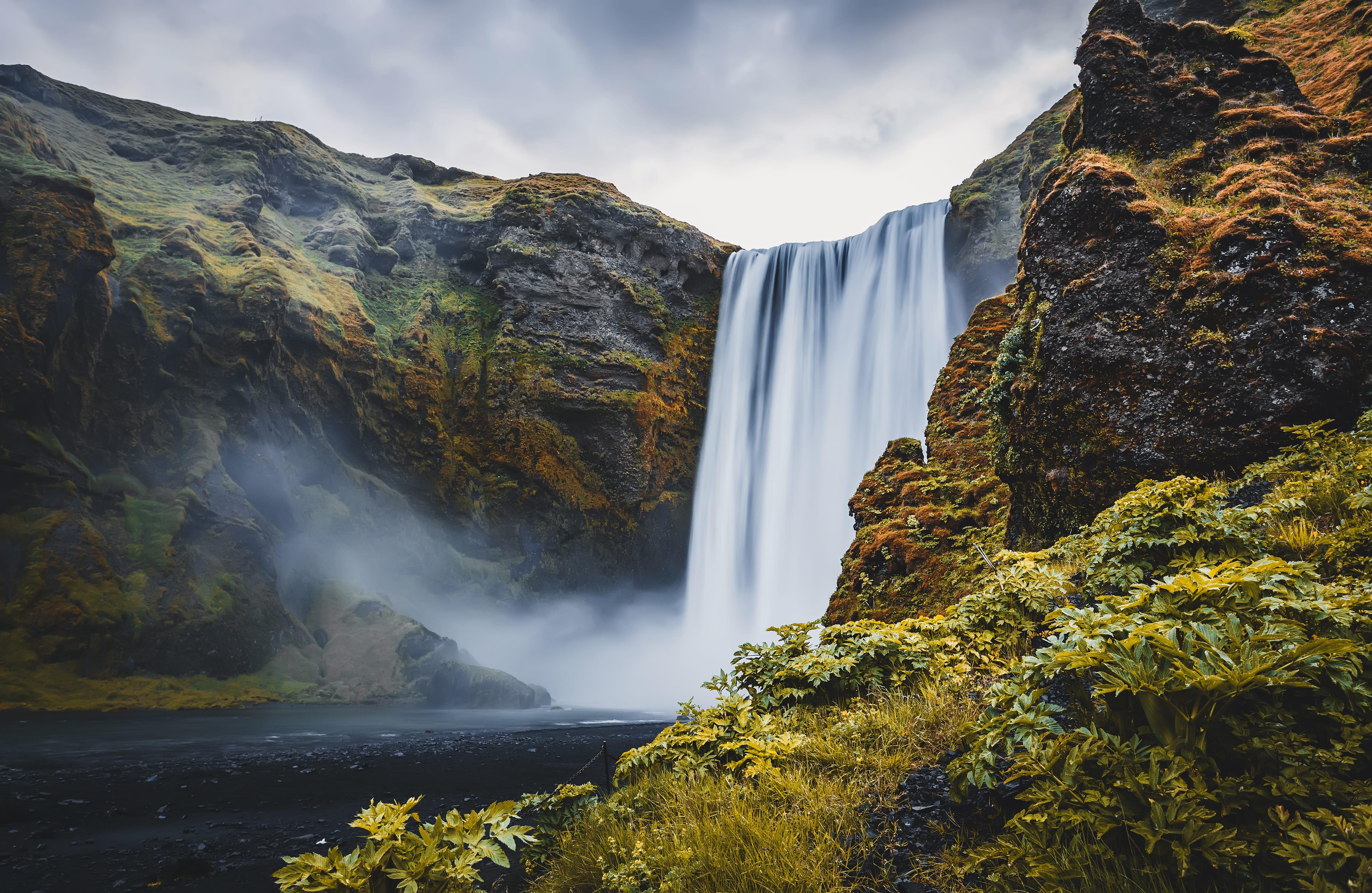Skógarfoss Waterfall view