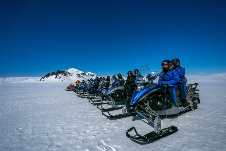 Snowmobile on the glacier is the best way to explore