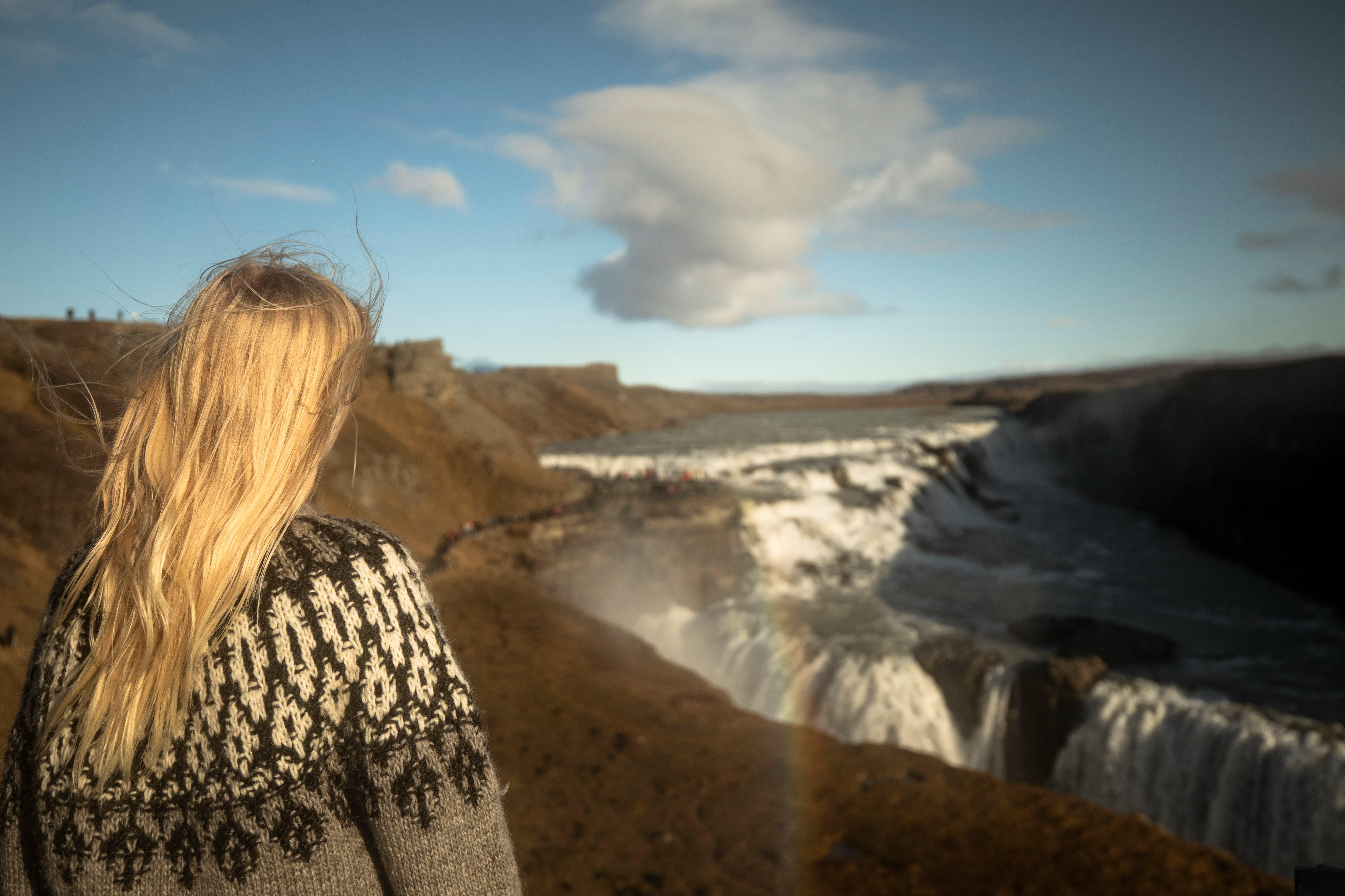 Gullfoss waterfall view