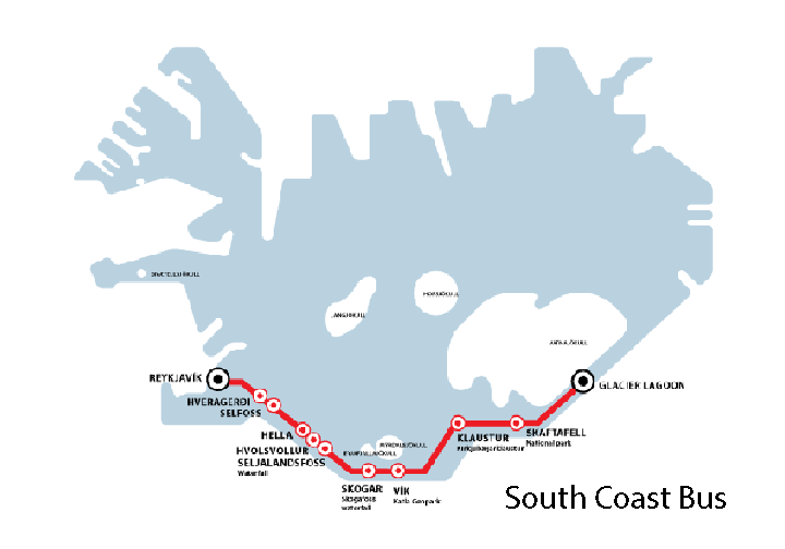 South coast bus map