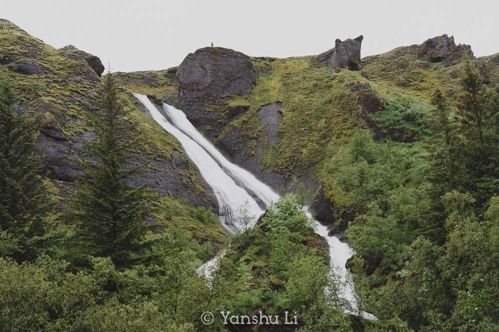Systrafoss Waterfall of Kirkjubæjarklaustur South Iceland