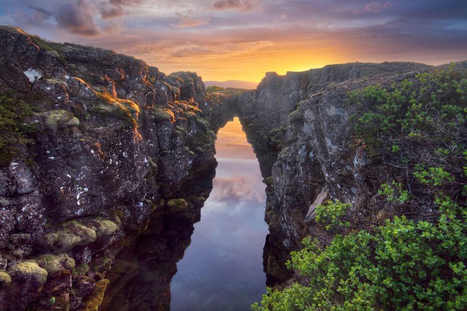 Thingvellir National Park Waterfilled Fissure