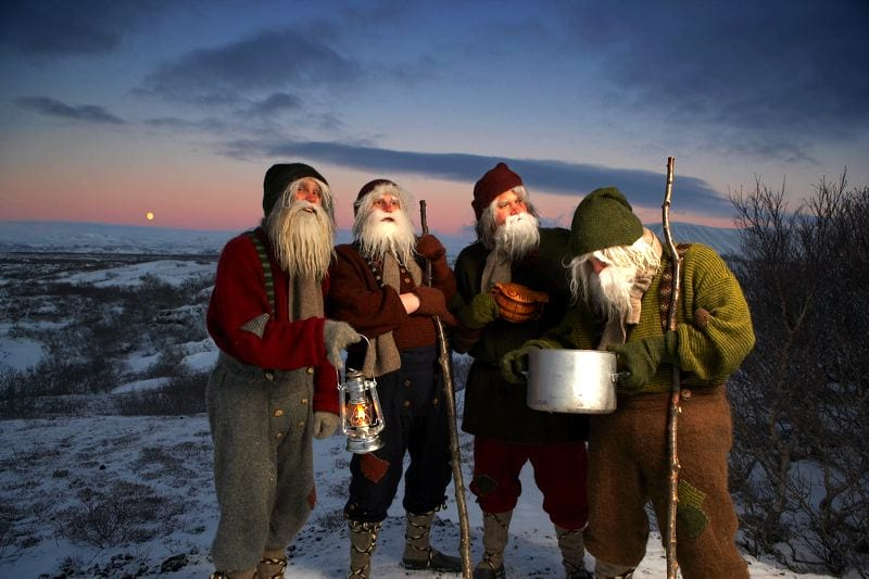 Icelandic Santa Clauses known as Jólasveinnar