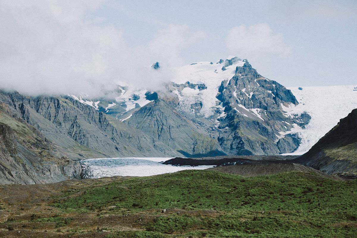 Vatnajokull National Park is a nature reserve in South Iceland