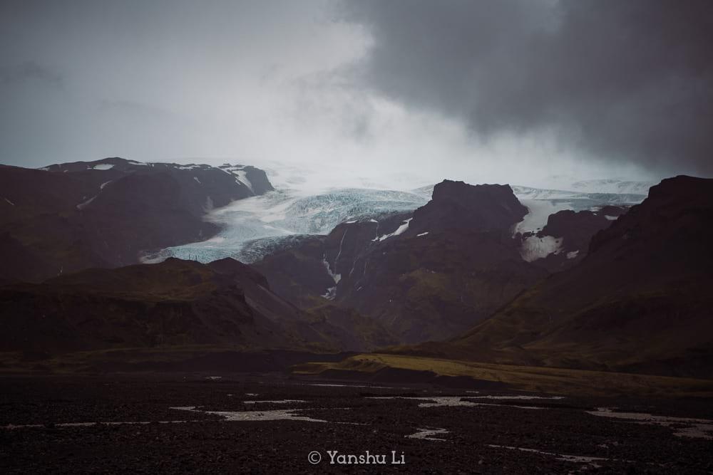 Vatnajokull glacier tongue near Hof South Iceland