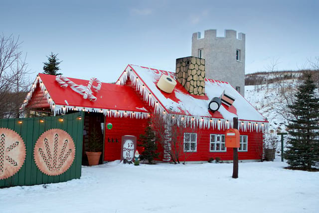 Santa's house approximately 20 kilometres from Akureyri